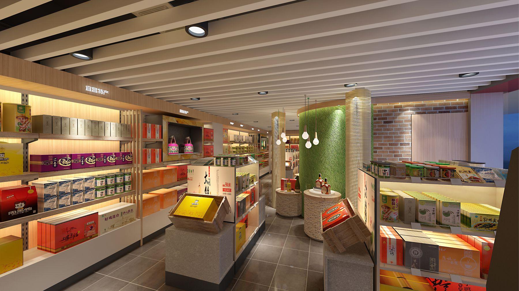 特产店室内环境装潢设计实景图